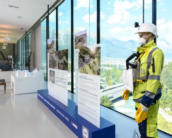Exponat zum Baulos Sillschlucht im Museum Tirol Panorama ausgestellt