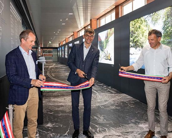 Opening of the new exhibition at Innsbruck Central Station