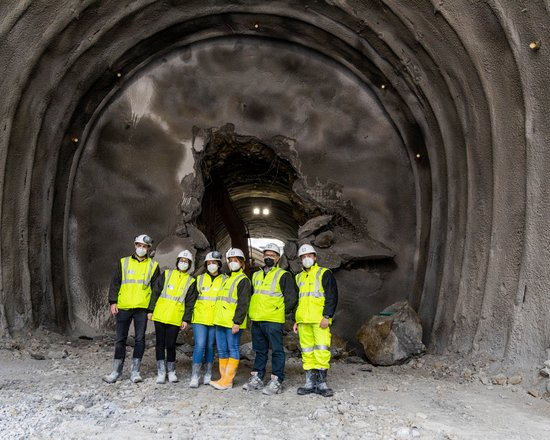 Brenner Base Tunnel: Breakthrough of first main tunnel below the Isarco river
