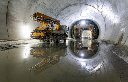 Eisackunterquerung - ausgekleideter Tunnel