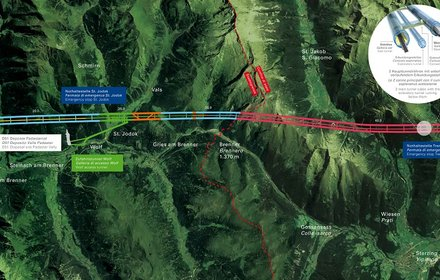 Plan of the Brenner Base Tunnel 2021