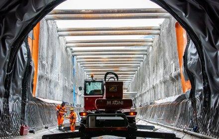 Eisackunterquerung - offene Tunnelbauweise