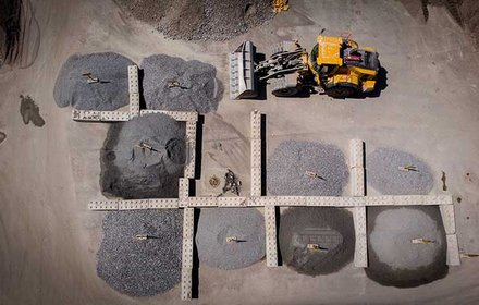 Baustelleneinrichtung - Materiallager
