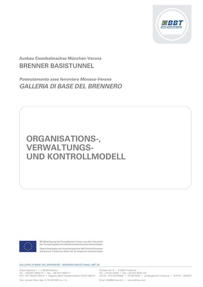 Organizational-, Administrative and Control Modell (in Italian)