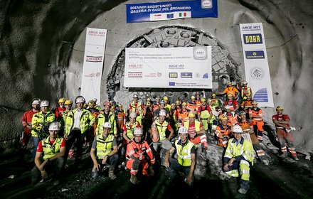 Breakthrough in the exploratory tunnel