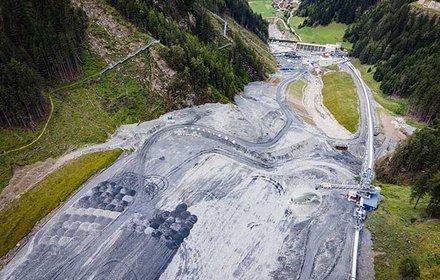 Deponie Padastertal – Blick Richtung Wipptal