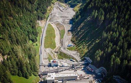 Deposito Padastertal - Vista verso la fine della valle