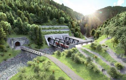 Blick Richtung Süden – das Nordportal des Brenner Basistunnels