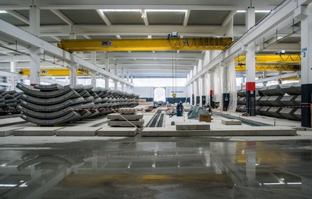 Impianto di prefabbricazione dei conci a Hinterrigger
