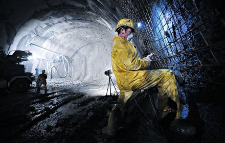 Consolidation work in the Wolf access tunnel