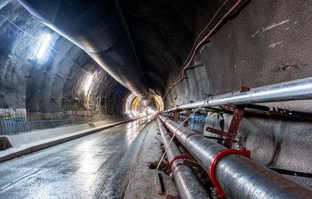 Mauls - Haupttunnelröhre mit Spritzbeton gesichert
