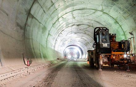 Ausgekleideter Tunnel