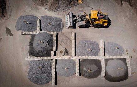 Construction site set-up - material storage