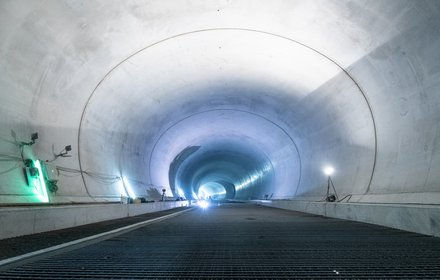 Tulfes-Pfons - pavement reinforcement in the connection tunnel