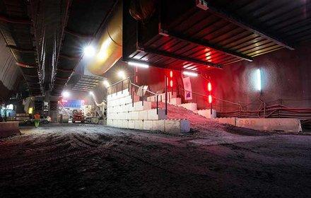 Camerone di diramazione - centro logistico in sotterraneo