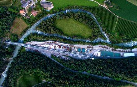Cantiere di Unterplattner - Portale sud del cunicolo esplorativo e impianto di depurazione acque